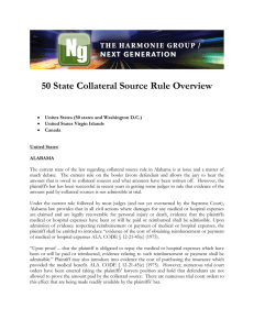 50 State Collateral Source Rule Overview