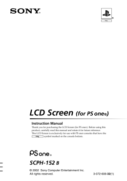 LCD Screen (for PS one®)