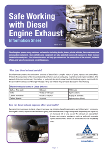 Safe Working with Diesel Engine Exhaust