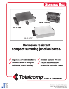 General Sensor Compact Summing Junction Box Model