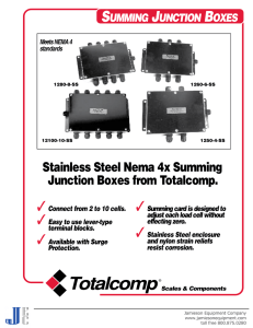 Stainless Steel Nema 4x Summing Junction Boxes from Totalcomp.