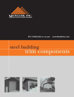 Steel building Trim Components