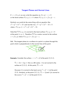 Tangent Planes and Normal Lines