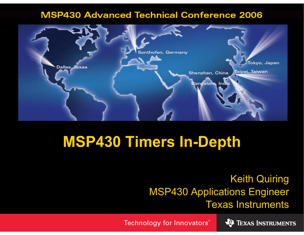 Msp430 Timers In Depth Watchdog Timer The Common Clock Is Characteristic Of Basic