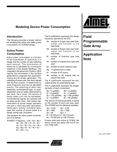 Modeling Device Power Consumption Application Note