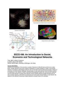EECS 498: An Introduction to Social, Economic and Technological