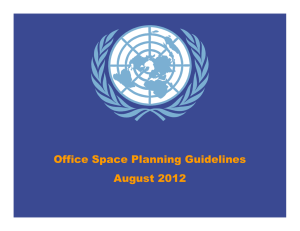 Office Space Planning Guidelines August 2012
