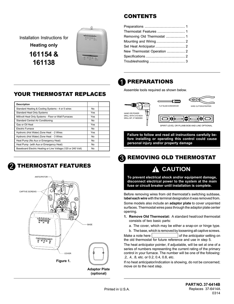 Suburban Thermostat Instructions on
