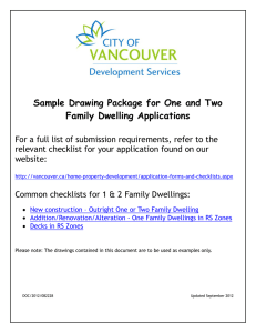 Sample Drawing Package for One and Two