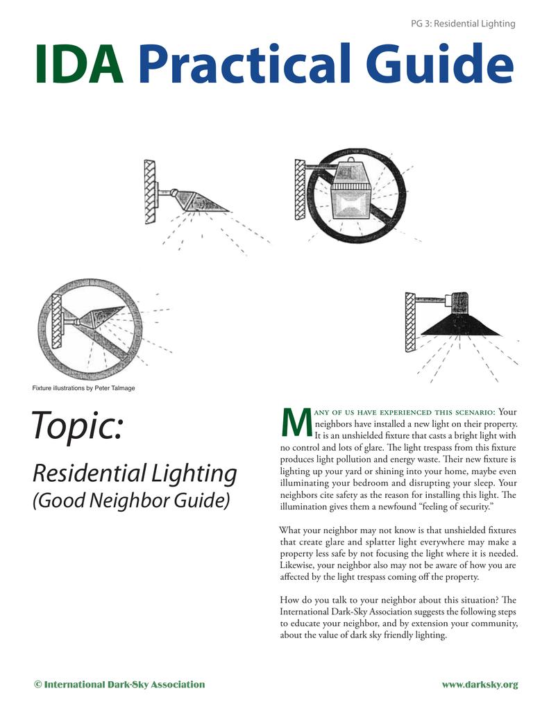 Residential Lighting IDA Practical Guide