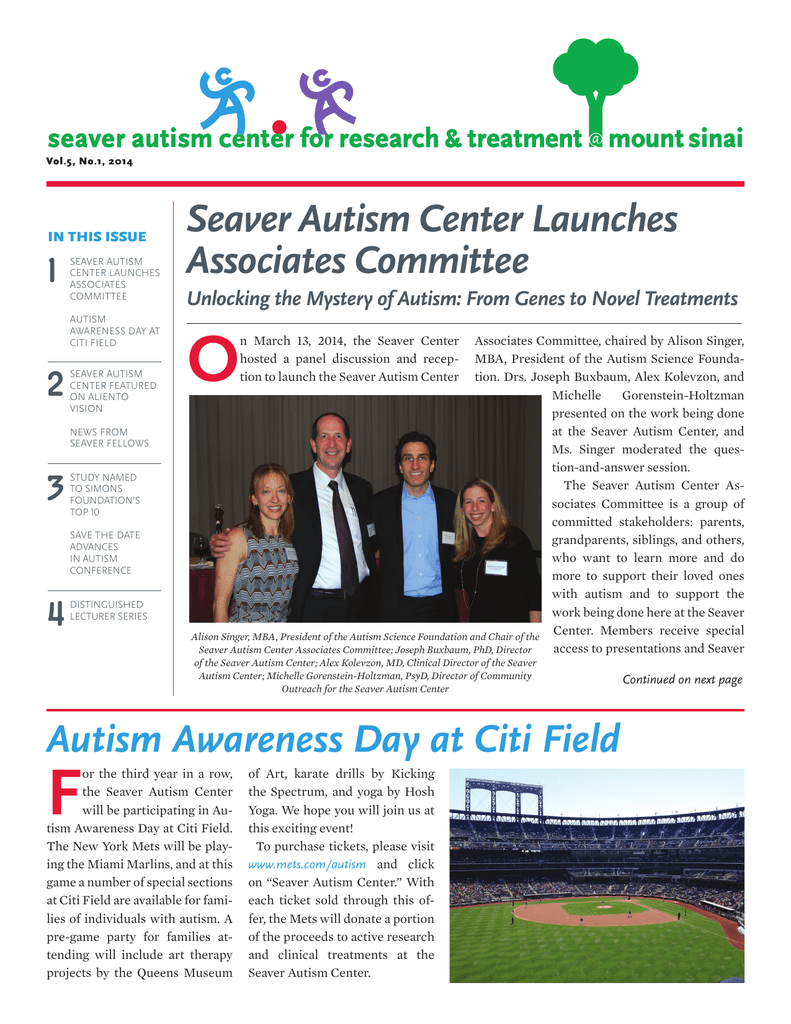 Seaver Autism Center Launches Associates Committee Autism