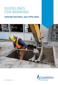 Working around natural gas pipelines