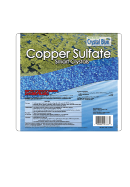 Crystal Blue Copper Sulfate Smart Crystals