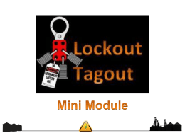 Lock Out/Tag Out Requirements