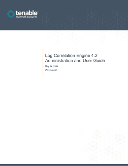 Log Correlation Engine 4.2 Administration and User Guide