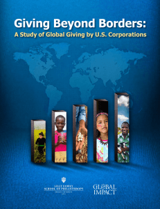 Giving Beyond Borders: A Study of Global Giving by U.S. Corporations