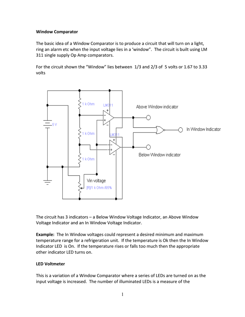 Window Comparator Consider The Led Circuit As Shown Below In This Is 018211739 1 2b1fd1d2eba4dae37dd3d5ff4b7dee8d