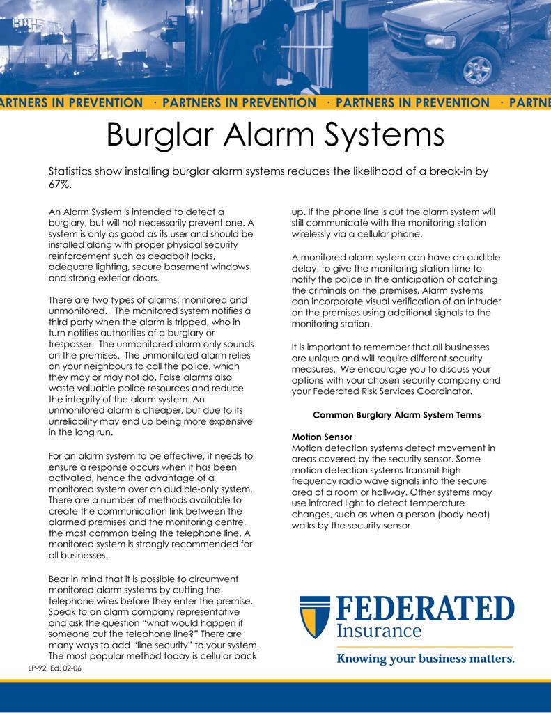 Burglar Alarm Systems A One Time Only 018212117 1 0121c46387b327878834c7051de144c6