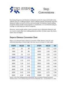 Steps-to-Distance Conversion Chart