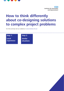 How to think differently about co-designing solutions to complex care