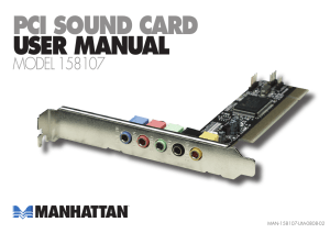 PCI SOUND CARD USER MANUAL