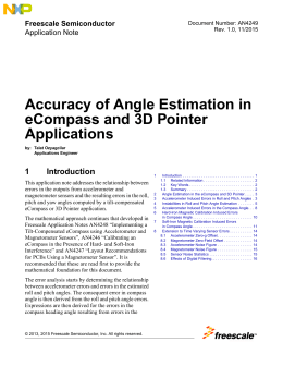 Accuracy of Angle Estimation in eCompass and 3D Pointer