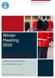 Winter Meeting 2016 - British Thoracic Society