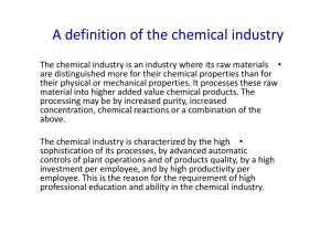 A definition of the chemical industry