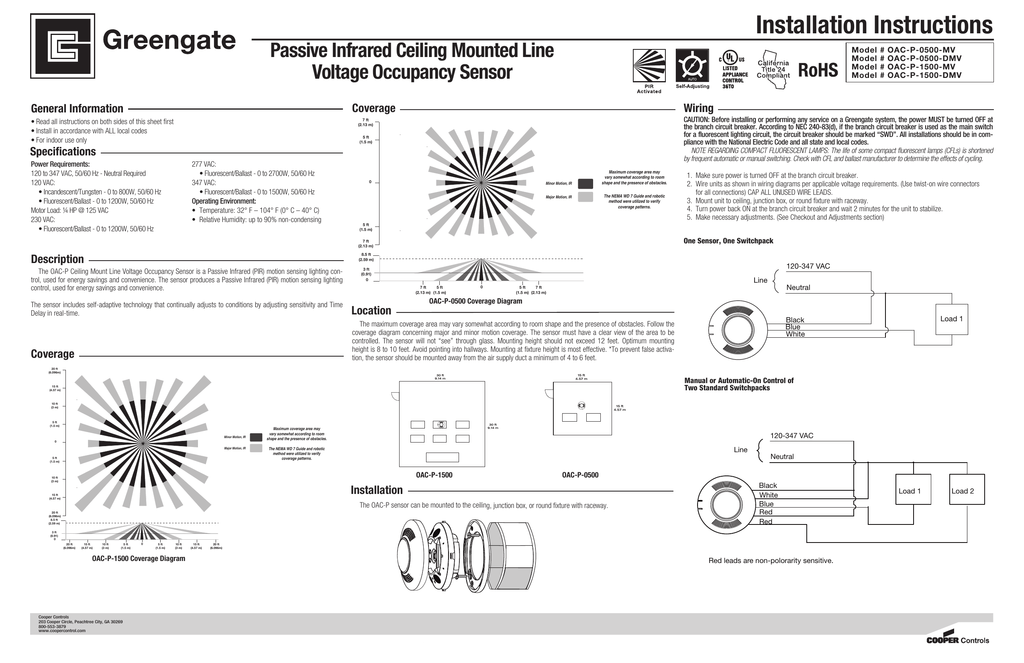 30 Ceiling Occupancy Sensor Wiring Diagram