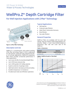 WellPro.Z Depth Cartridge Filter