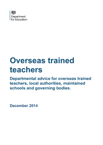 Overseas-trained teachers