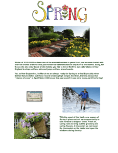 PAC Spring Newsletter 2016