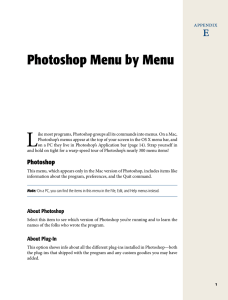 Photoshop Menu by Menu - How to Example Code