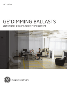 GE® Dimming Ballasts | Lighting for Better Energy Management