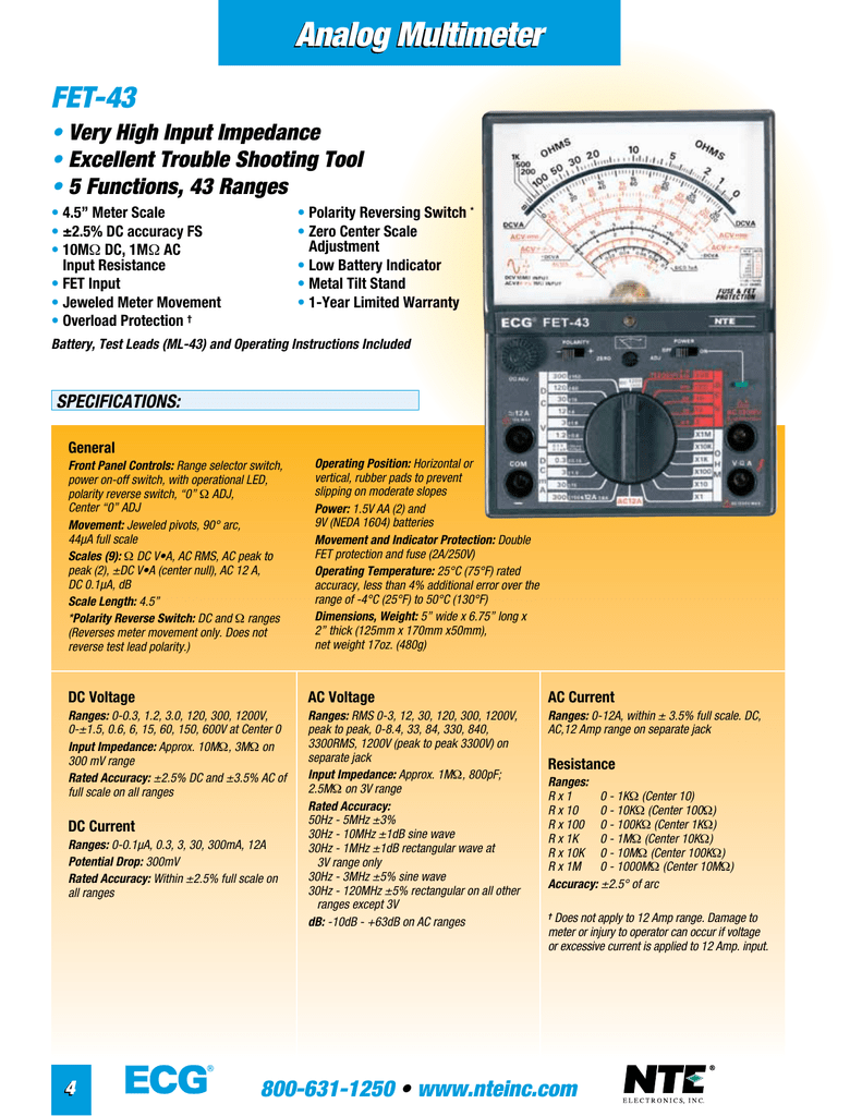 Analog Multimeter Fet Overload Current Trip 018213402 1 654695bf9a18a9b080763d5ffb587ac9