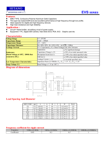 EVS SERIES Features Application : Characteristics Diagram of
