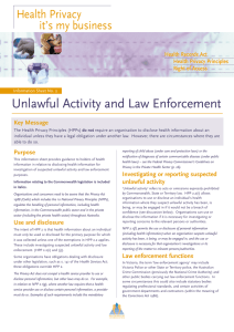 Unlawful Activity and Law Enforcement