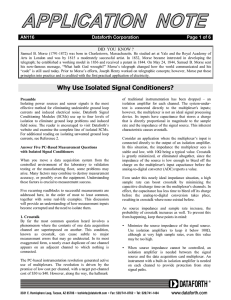 Why Use Isolated Signal Conditioners?