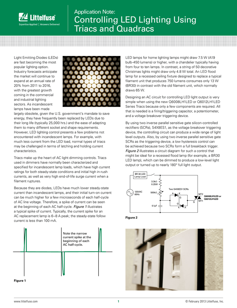 Controlling Led Lighting Using Triacs And Quadracs Diac Triac Phase Power Control Without Hysteresis