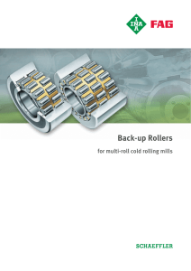 Back-up Rollers for multi-roll cold rolling mills