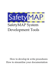 SafetyMAP System Development tools