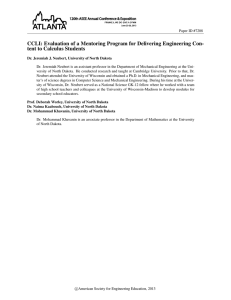 CCLI: Evaluation of a Mentoring Program for Delivering Engineering