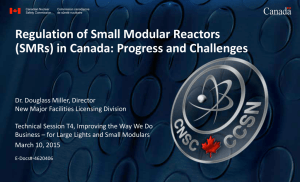 Regulation of Small Modular Reactors