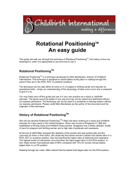 Rotational Positioning-making sure baby is in a good position!