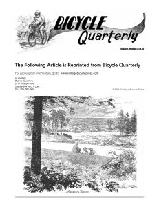 Tire Drop - Bicycle Quarterly