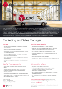 Marketing and Sales Manager