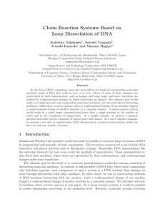 Chain Reaction Systems Based on Loop Dissociation of DNA