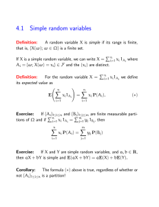 4.1 Simple random variables
