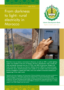 From darkness to light: rural electricity in Morocco