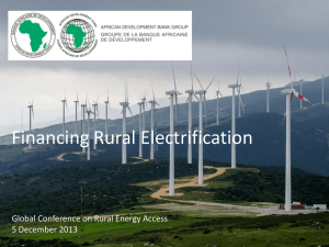 Financing Rural Electrification